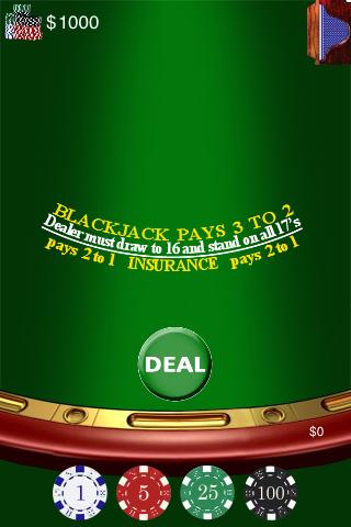Screenshot Black Jack 21 Poker Card Game