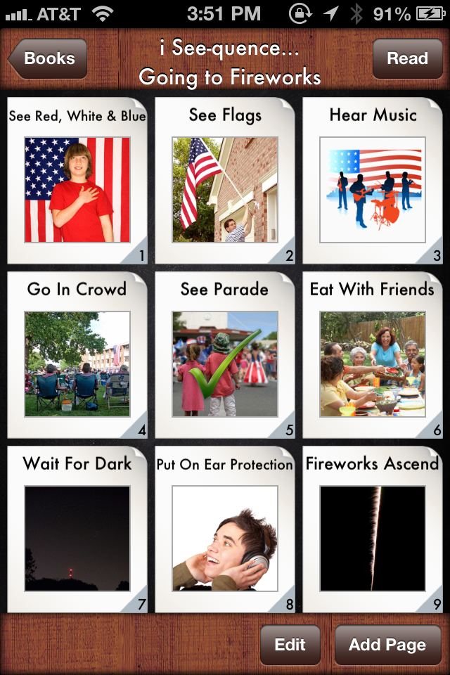 i See-quence... Going to Fireworks Social Story - Educational App